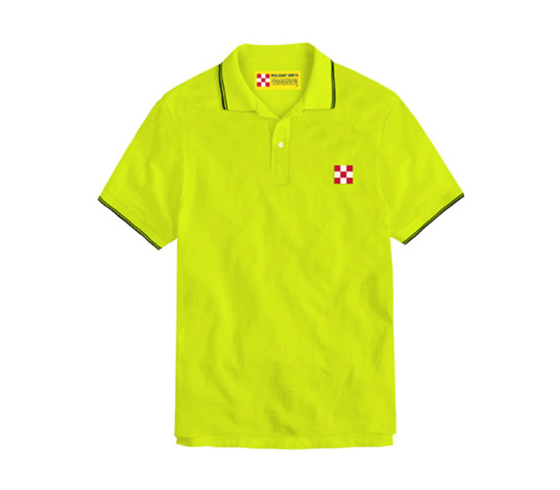 Mc2 Saint Barth Beverly Hills Light Stretch Cotton Piquet Polo Giallo Fluo