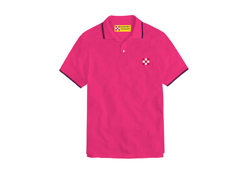 MC2 Saint Barth Mc2 Saint Barth Beverly Hills Light Stretch Cotton Piquet Polo Rosa Fluo