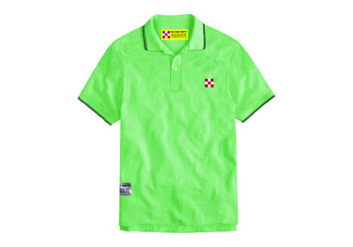MC2 Saint Barth Mc2 Saint Barth Beverly Hills Light Stretch Cotton Piquet Polo Verde Fluo