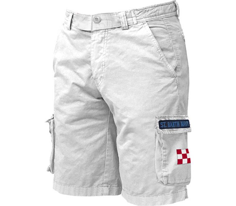 Mc2 Saint Barth Freeport Cargo Pocket Short White