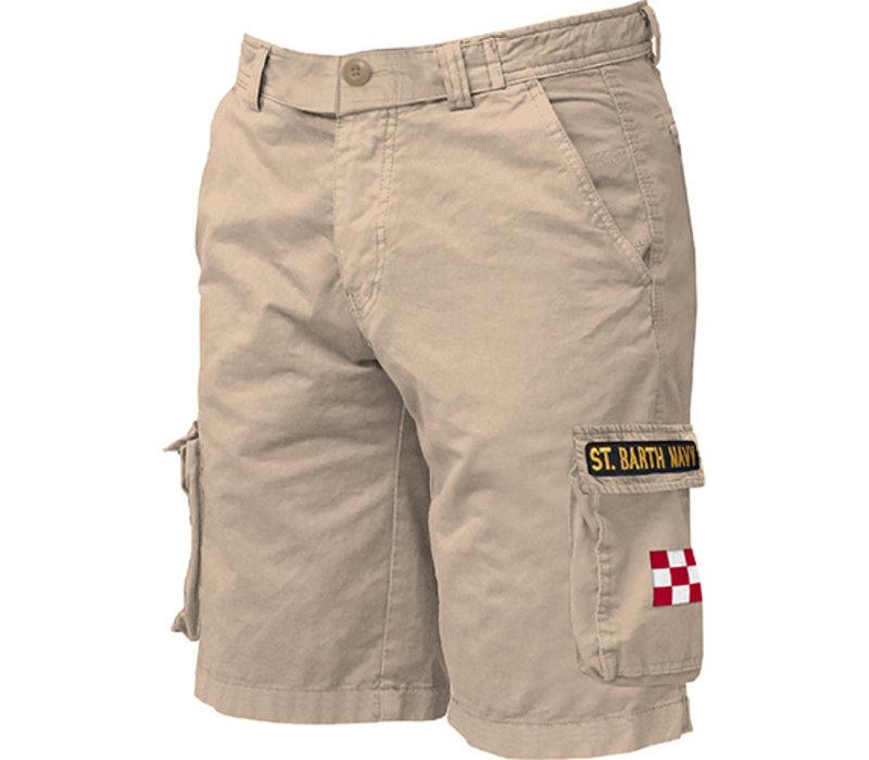 Mc2 Saint Barth Freeport Cargo Pocket Short Beige