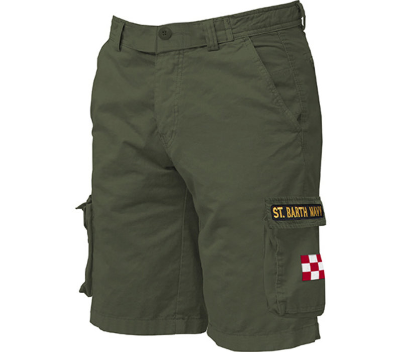 Mc2 Saint Barth Freeport Cargo Pocket Short Military Green