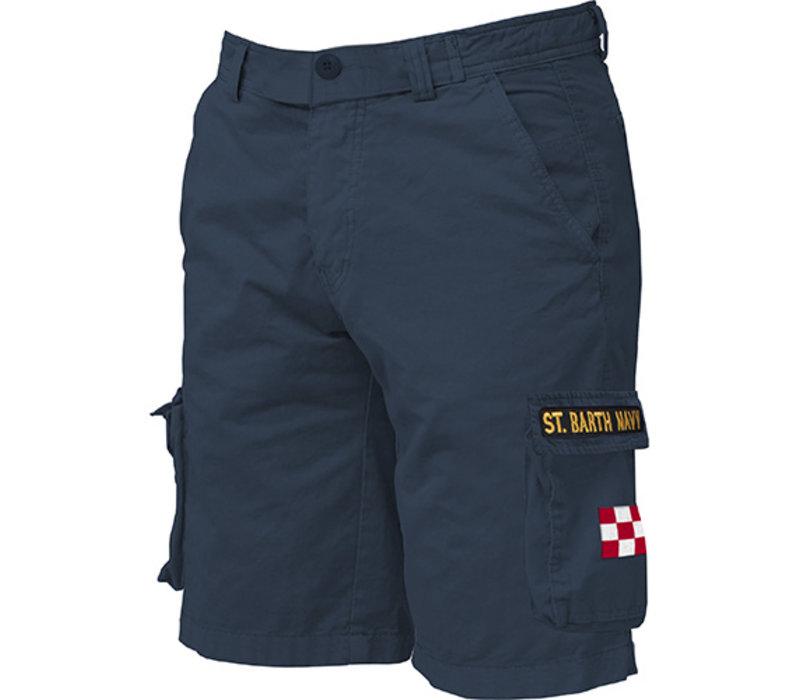 Mc2 Saint Barth Freeport Cargo Pocket Short Navy