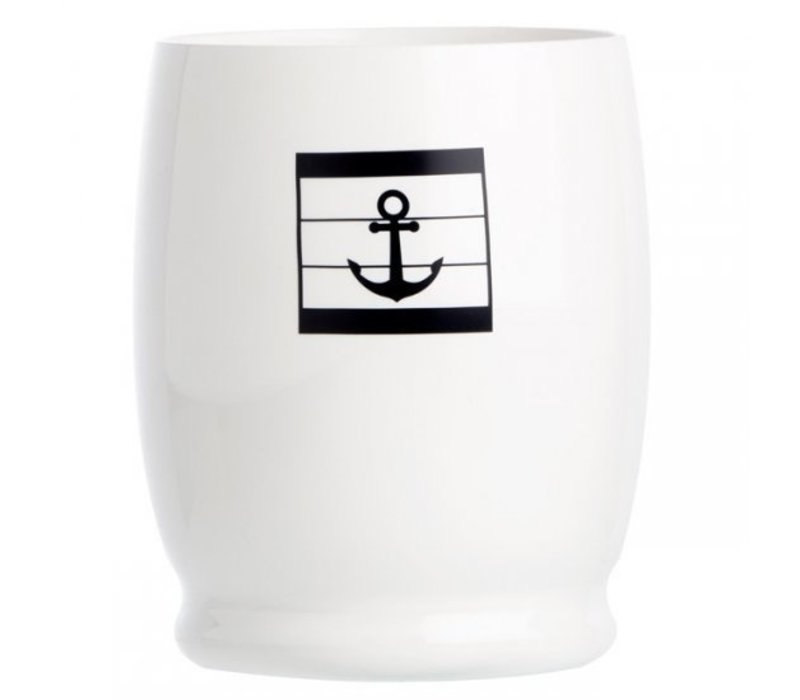Sea Lovers Water Glass - Anchor