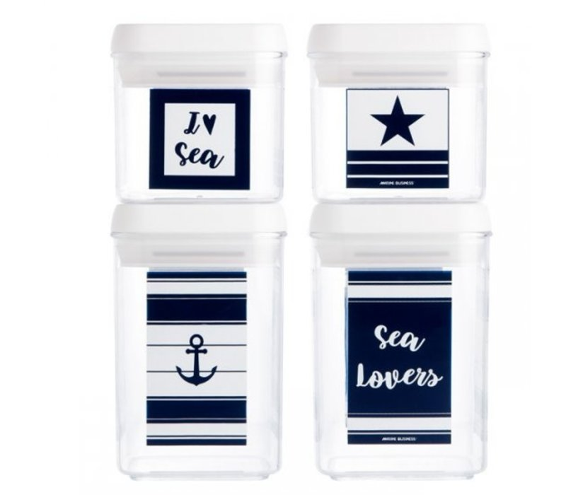 Sea Lovers Set Canisters (4 Pcs.)