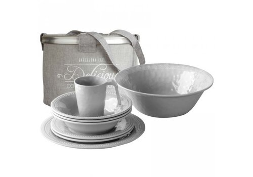 ARC Marine Harmony Table Ware Set - Silver - 14 pcs