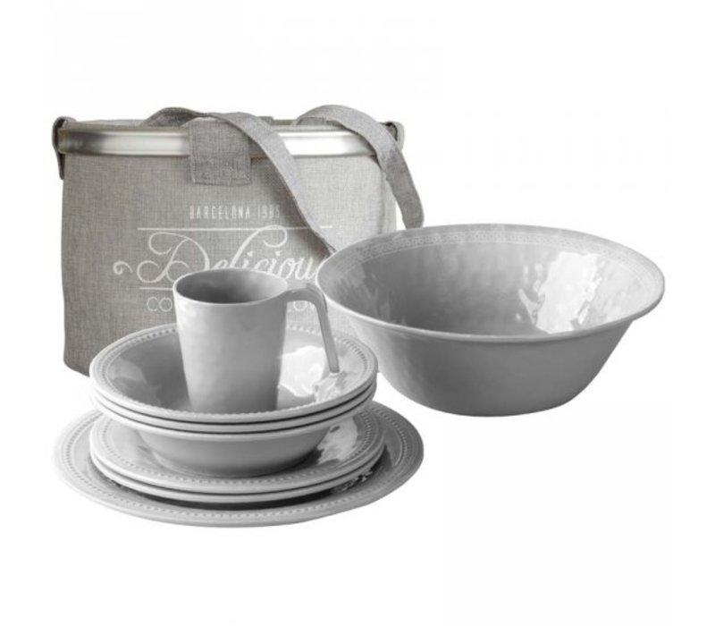 Harmony Table Ware Set - Silver - 14 pcs