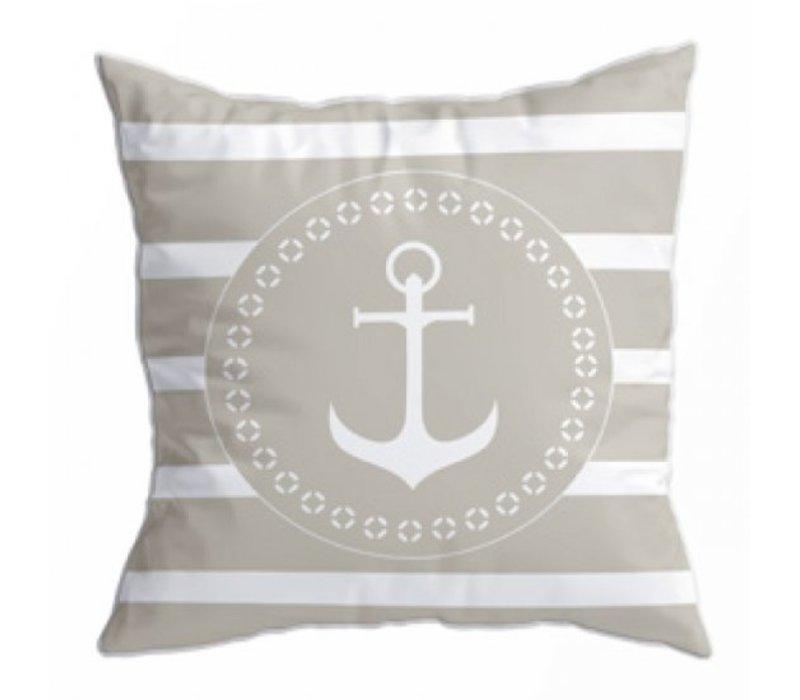 Santorini Set Cushions - Navy Beige