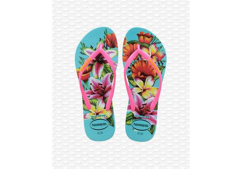 Havaianas Havaianas Flip Flop Women Slim Floral Blue