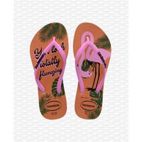 Havaianas Flip Flop Kids Slim Glitter Ballet Rose