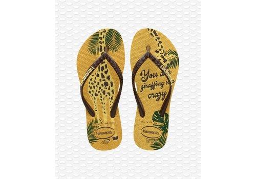 Havaianas Havaianas Flip Flop Kids Slim Glitter Lemon Yellow