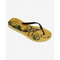 Havaianas Flip Flop Kids Slim Glitter Lemon Yellow