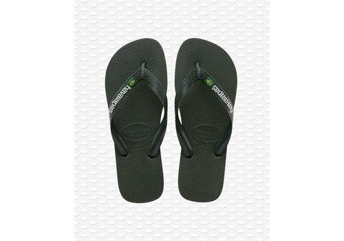 Havaianas Havaianas Flip Flop Brazil Logo Green Olive
