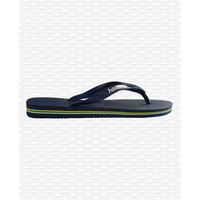 Havaianas Flip Flop Kids Brazil Logo Navy Blue