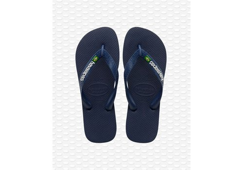 Havaianas Havaianas Flip Flop Kids Brazil Logo Navy Blue