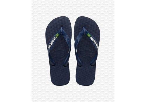 Havaianas Havaianas Flip Flop Men Brazil Logo Navy Blue