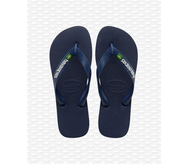 Havaianas Flip Flop Men Brazil Logo Navy Blue