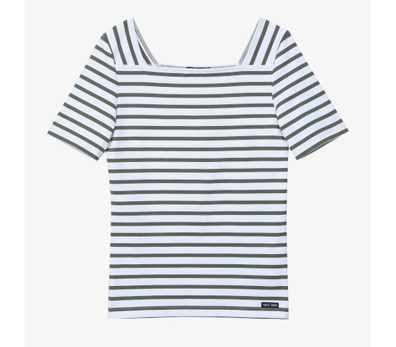 Saint James T-shirt Pleneuf Neige Algue