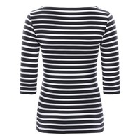 Saint James T-shirt Garde Cote Navy Neige