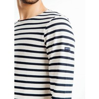 Saint James Shirt Meridien Moderne Ecru Marine