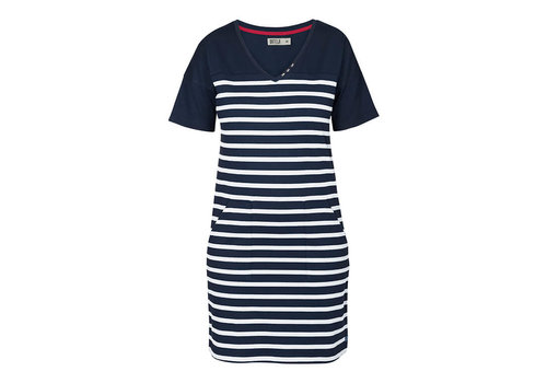 Batela Batela Nautical Dress V-Neck