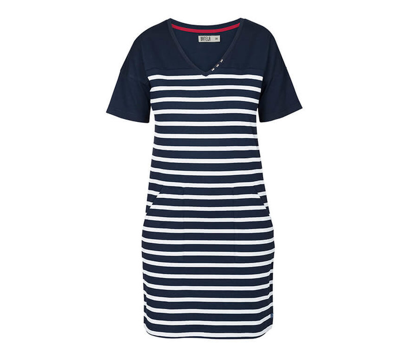 Batela Nautical Dress V-Neck
