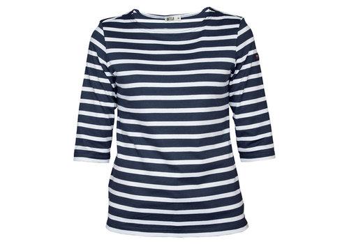 Batela Batela Navy Striped T-Shirt NavyBlue White