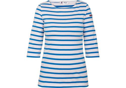 Batela Batela Navy Striped T-Shirt Corde/Bleu