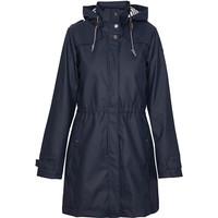 Batela Navy Raincoat with Striped Lining