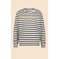 Penn & Ink Sweater Stripe F796 Rainy Day Captain