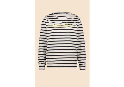 PENN&INK Penn & Ink Sweater Stripe F796 Rainy Day Captain