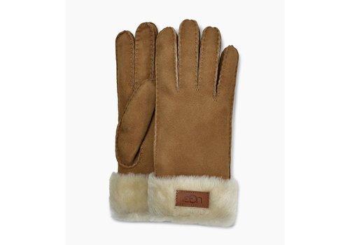 Ugg UGG Turn Cuff Gloves Women Chestnut