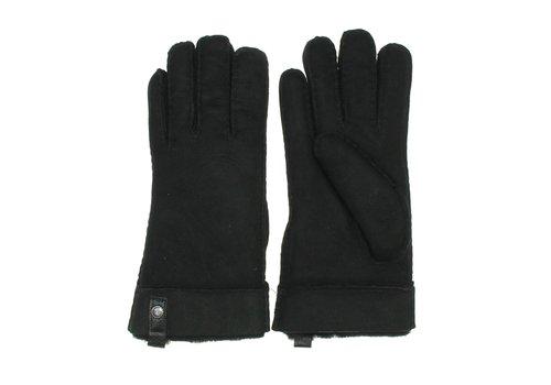 Ugg UGG Shorty Gloves Women Leather Trim Black