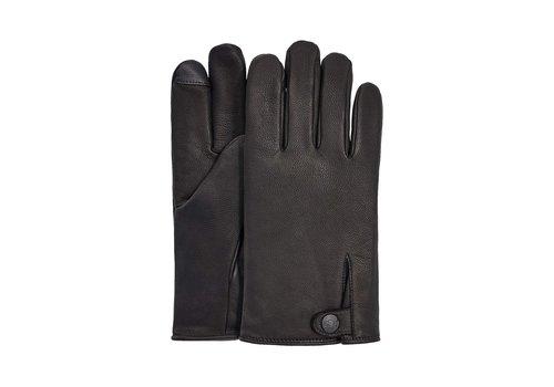 Ugg UGG Tabbed Splice Vent Leather Gloves Men Black