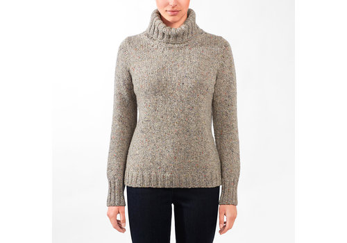 Fisherman out of Ireland FISHERMAN OUT OF IRELAND POLO NECK SWEATER WILDFLOWERS