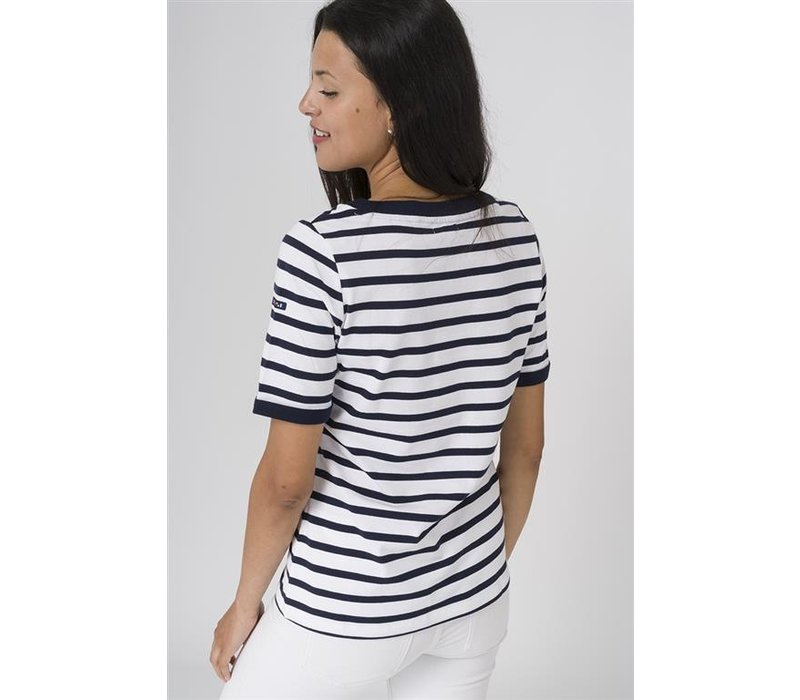 Batela Nautical T-Shirt with Button