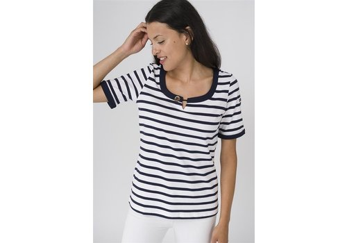 Batela Batela Nautical T-Shirt with Button