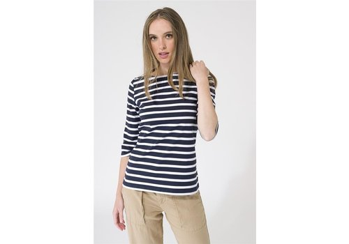 Batela Batela Navy Striped T-Shirt NavyBlue White