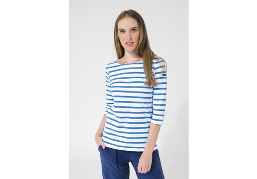 Batela Batela Navy Striped T-Shirt Corde/Bleu