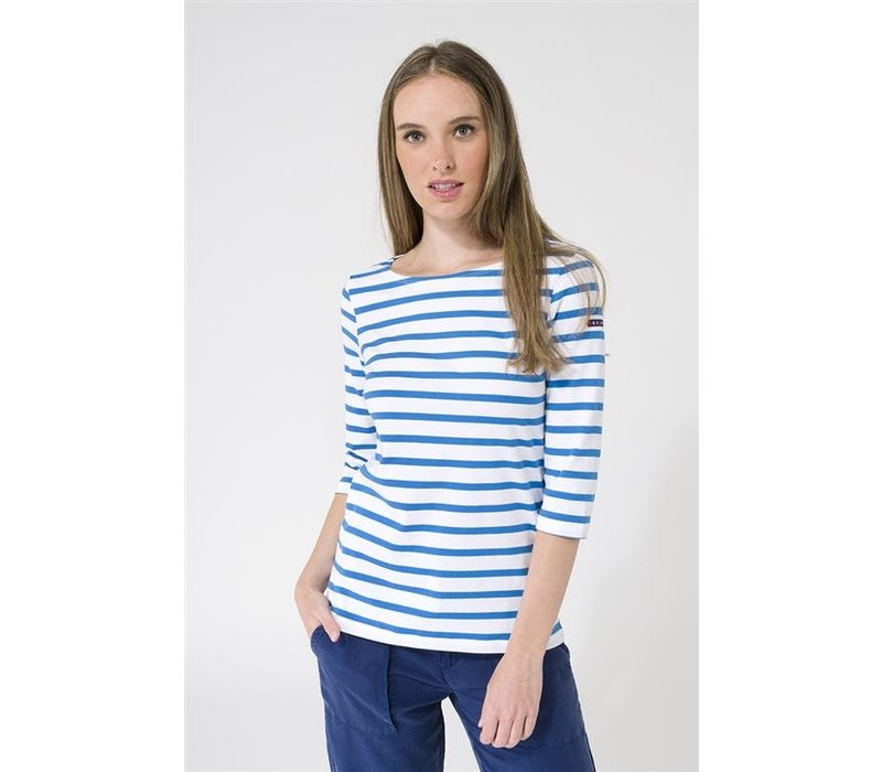 Batela Navy Striped T-Shirt Corde/Bleu