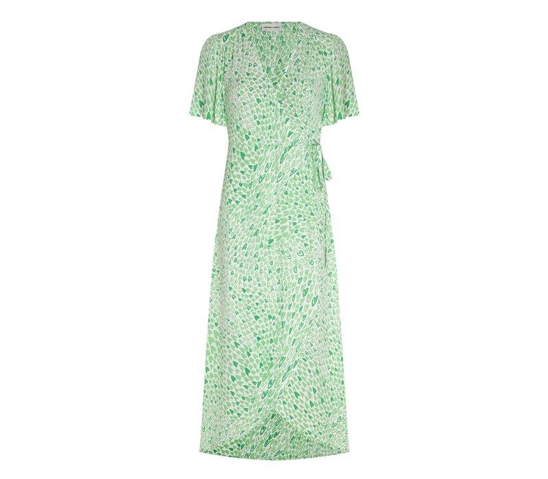 Fabienne Chapot Archana Sleeve Dress Love Stream Cream White/Sea Green