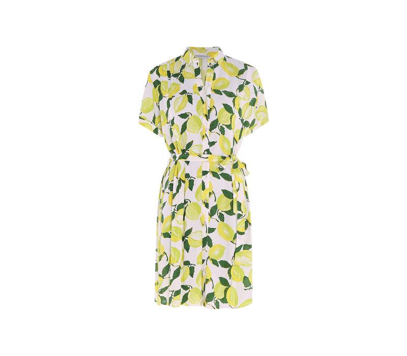 Fabienne Chapot Boyfriend Tess Dress Lime Lights Cream White/Pistache