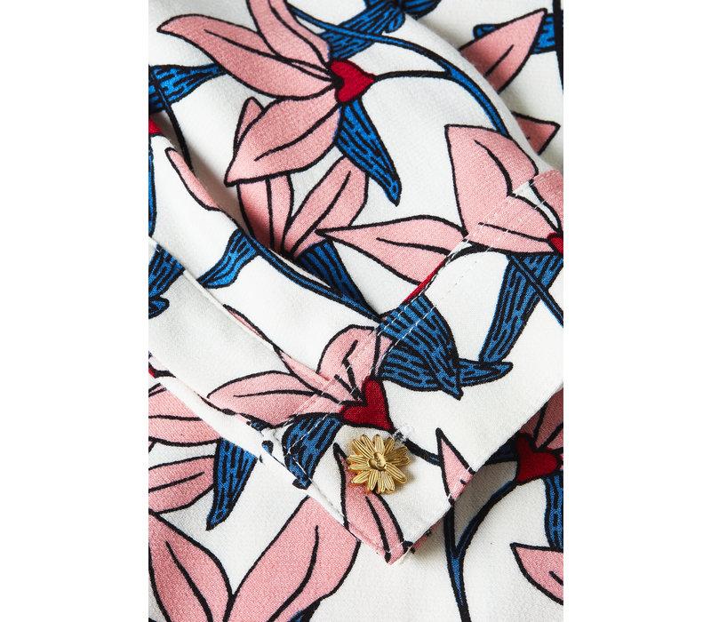 Fabienne Chapot Perfect Blouse Lotus Lover Cream White/Trippy