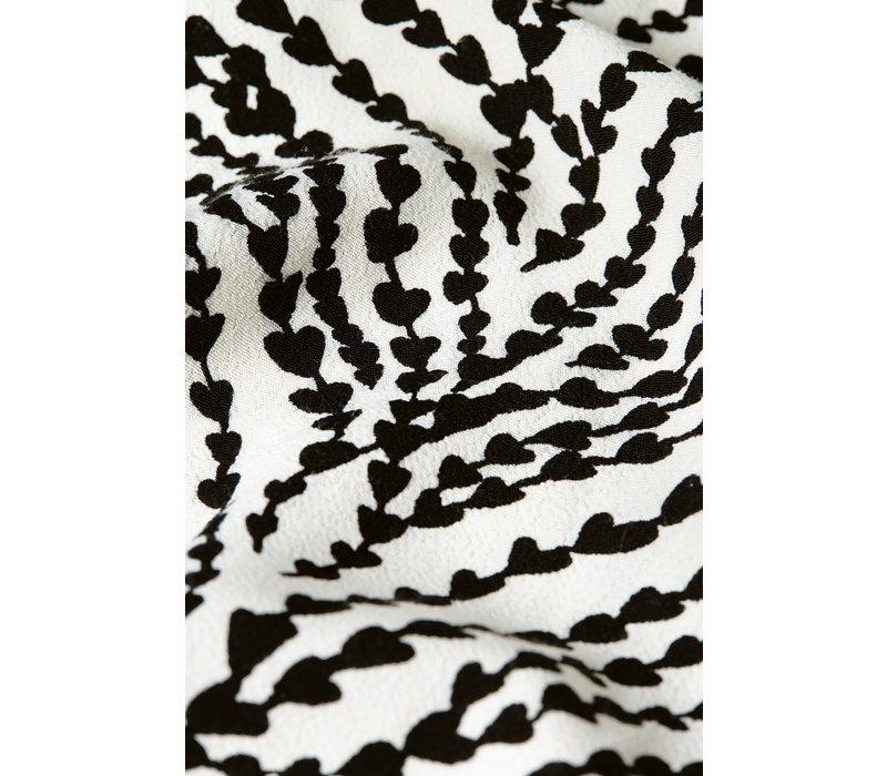Fabienne Chapot Laurie Skirt Heart Lines Cream White/Black