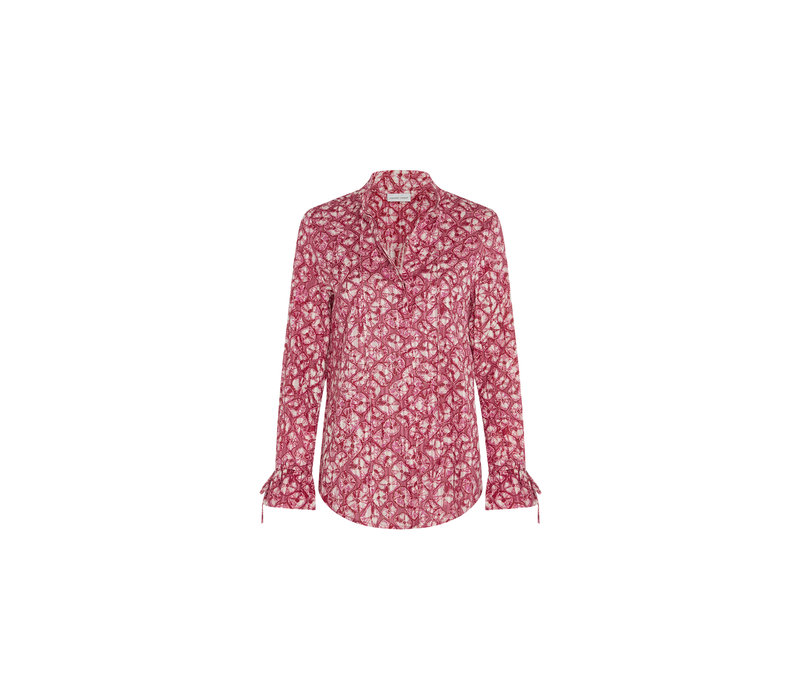 Fabienne Chapot Becca Blouse Tie Dyemonds Cherry Red