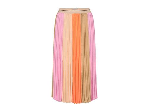 Mos Mosh Mos Mosh Plisse Block Skirt Peach Parfait