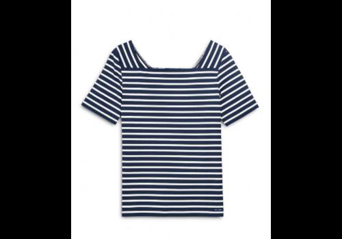 Saint James Saint James T-shirt Pleneuf II Navy/Neige