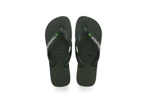 Havaianas Havaianas Flip Flop Men Brasil Logo Green Olive