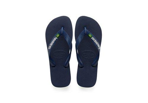 Havaianas Havaianas Flip Flop Men Brasil Logo Navy Blue