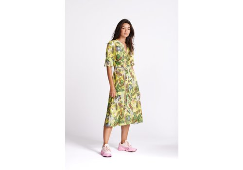 POM POM Amsterdam Dress Jungle Beats Lemon